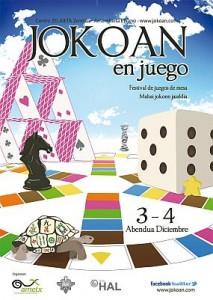 Cartel de las jornadas Jokoan en juego.