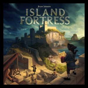 Portada de Island Fortress. Juego de Bryan Johnson