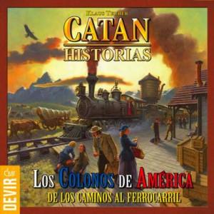 Portada del juego Catan . Colonos de América. Juego de Klaus Teuber