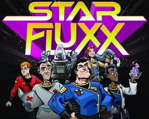 Ilustración del juego Star Fluxx de Looney Labs