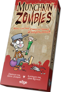 La caja del juego Munchkin Zombie de Edge