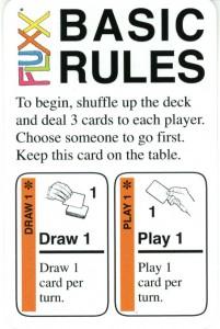 Fluxx. Reglas Básicas