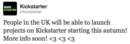 Kickstarter - Twitter UK