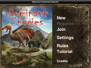 Dominant Species - iPad Portada
