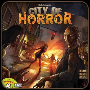 Portada del juego de Asmodee y Repos Production City Of Horror